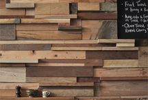 Pareti in legno di recupero