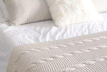 Pies de cama tejidos