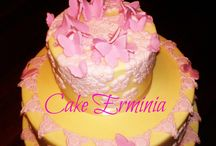 Cake with butterflies