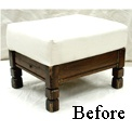 Ottome? Ottoyou! (Ottoman) / Oh the Ottoman. Often under foot, but sorely missed when not around. Keep yours clean with a nice custom slip-cover!
