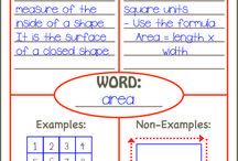 Math Vocabulary Ideas