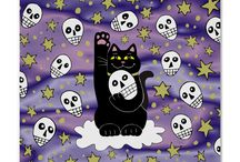 Halloween Themed Products at Three Cats Graphics' Zazzle Shop / Halloween and Autumn products available for purchase at my Zazzle Shop. Many customization choices.