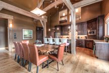 Modern Rustic Big Sky, MT Ski Home / This was a fun project that was out of the norm Big Sky, MT ski home. We call this Modern Rustic and this has beautiful finishes that are enhanced by modern furnishings to make this a very inviting beautiful home.