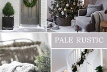 ... grey, copper & white rustic christmas