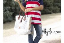 Patriotic Outfits / Find your patriotic outfits today! Inspiration for outfits you can wear for the 4th of July, Memorial Day, or a military homecoming.