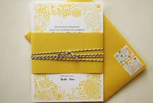 Wedding Paper / A pin board for everything paper ... invitations, menus, annoucements, checklists and programs.