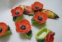 πηλινα λουλουδια