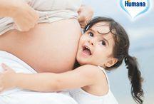 Humana Baby App / Milé mamičky, milí ockovia, Humanu si môžete pohodlne objednať cez webový formulár na www.humanapredeti.sk alebo cez mobilnú aplikáciu Humana Baby.