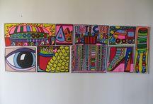 """New York I. Float / Cloot"" / Acryl on Canvas, 1,20 m x 0,40 m by Mimi von Minz"