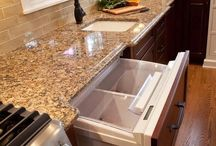 St. Cecilia Granite with Dark Cabinets