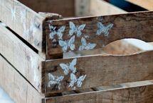 Riciclo CASSETTE LEGNO / riutilizzare le cassette di legno