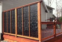Wind and privacy panels