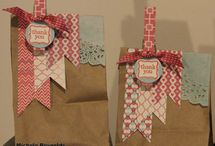 cards from paperbags