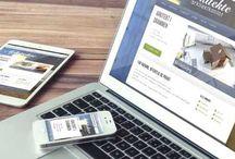 Lage hjemmeside til firma / Tavlen er min test tavle, og den viser frem noen bilder fra egen hjemmeside.