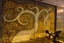MURALES Raiza Barros / Cada uno de los murales que he realizado desde el año 2013