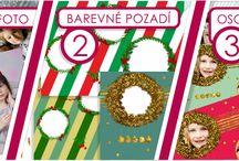 Vánoční kampaň / Udělejte si osobní dárkový balicí papír jednoduše ve 3 krocích: - pošlete nám emailem foto - vyberte si jedno z barevných pozadí -objednejte