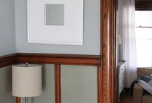 Grey n wood / Grey walls wood trim