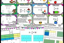 Math for Fifth Grade Teaching Activities / You will find fun 5th grade ideas, activities, printables worksheets, games, task cards, interactive notebooks and more. This includes Common Core place value, word problems, test prep, fractions, etc.