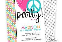Kids Birthday Invitations / Kids Birthday Invitations | Kids Birthday Invitations DIY | Kids Birthday Invitations Templates | Instant Download Invitaitons
