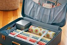 GIft Wrap Storage & Station Ideas / A place to wrap. A place to gift. But what's more? A place to store! I #GiftWrapping I #GiftWrapStorage I #GiftWrapRoomInspiration
