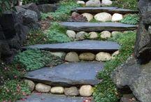 Garden rock features