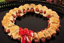 kerstbuffettje / Hapjes en salades op buffettafel