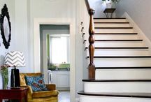 Staircase and foyers