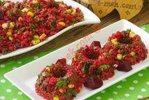misafire salata sunumları