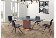 Modern Extendable Leatherette Dining Collection