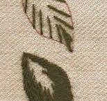 hojas bordadas