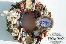 Őszi ajtódíszek / Fall wreathes