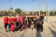 Sports Festival at Savoy Dubai / Their sportsmanship spirit is as exemplary as their warm hospitality! Seen here are our associates partaking in a thrilling Ladies Volley Ball game as a part of our ongoing Sports Festival.