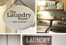 Vintage laundry room decor