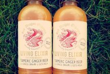 Our Living Elixir / Access the power of turmeric in Living Elixir. A naturally fermented certified organic ginger beer