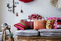 Boho Lounge Ideas / As young newlyweds, the reality is that you may be required to do more with less in certain areas of your life. Granted that we may be living in a smaller apartment soon, l'm already full of ideas to make the space pop.  Here l store boho inspiration from lounges l love.  _________________________  Bohemian, home decor, boho decor, boho lounge, boho living, home sweet home
