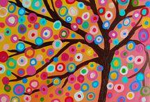 Árboles de color