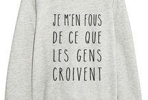 Vêtements avec écriture / Voici quelques pulls avec des écritures drôles et qui représenteront peut-être votre état d'esprit.