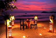 """Mediterranean romantic dinner / """"Love is a two-way street constantly under construction.""""  ― Carroll Bryant"""