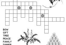 Christmas Trivia, Games, and Coloring Sheets / by Judy Berkau Craig