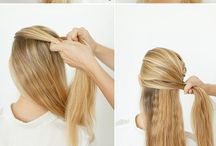 H A I R S T Y L E S / How to do...? Hair styles. DIY.