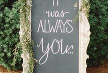 Wedding Board Sign Ideas / Ideas for your SE Wisconsin wedding- Chalkboard signs have been a popular trend over the past few years. Here are some great examples!
