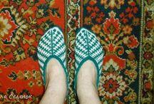 вязание-шапочки и тапочки