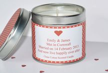 Personalised Candles / WE HAND POUR EVERY ONE OF OUR LUXURY PERSONALISED CANDLES USING 100% NATURAL SOY WAX.  SOY WAX IS GUARANTEED TO CONTAIN NO PETROLEUM, PARAFFIN OR BEESWAX PRODUCTS AND ALL ECO SOY WAXES ARE 100% VEGETABLE, MAKING THEM SUITABLE FOR VEGETARIANS & VEGANS. MADE USING EARTH GROWN SOYBEANS AND IS FURTHER ENHANCED WITH CAREFULLY SELECTED BOTANICAL OILS WHICH ADD TO THEIR PERFORMANCE CHARACTERISTICS.