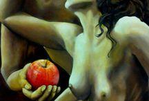 Arte- Art / Dalle viscere dell'anima ispirata L'arte è vita germogliata Nella tela colorata.  (Miry)