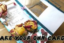 Make your card with nail varnish and pressed flowers