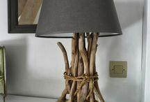 Lampes bois roulé