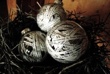 Ornaments made with newspaper / by Lesley Weidenbener