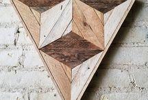 Holz Wanddesign