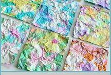 papel colorido por crianças