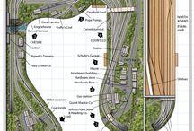 Model Train Bonanza / Model train layout ideas, Bridges, Cityscapes, trains